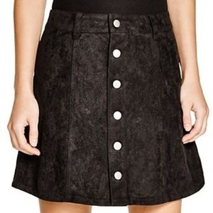 Olivaceous Black Suede Skirt